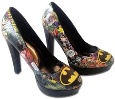 Batman High Heels Custom Made Shoes by MadHatter87 on Etsy, $85.99