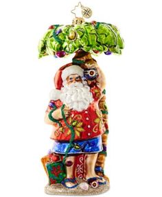 28edba794 Christopher Radko Clause in Paradise Mid-Year Collectible Ornament &  Reviews - All Holiday Lane - Home - Macy's