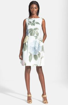 Ted Baker London 'Rose Eleta' Floral Print Fit & Flare Dress available at #Nordstrom