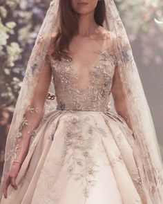 <img> paolo sebastian spring 2018 couture long sleeves illusion jewel v neck heavily embellished bodice princess blush color ball gown a line wedding dress zv — Paolo Sebastian Spring 2018 Couture Collection - Dream Wedding Dresses, Bridal Dresses, Wedding Gowns, Flower Dresses, Pretty Dresses, Bridal Collection, Couture Collection, Dress Collection, Couture Dresses
