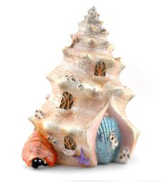 Gardening Sea Shell Shanty - a home to the mermaid fairy who lives in a magical enchanted fairy garden! A mermaid lover MUST HAVE! - Sea Shell Shanty - a home to the mermaid fairy who lives in a magical enchanted fairy garden! A mermaid lover MUST HAVE! Mermaid Shell, Mermaid Fairy, Mermaid Beach, Shell House, Fairy Village, Fairy Garden Supplies, Gardening Supplies, Landscaping Supplies, Fairy Furniture