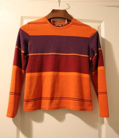 Vintage 90's Colorblock Striped Sweater by ThreadSteady on Etsy