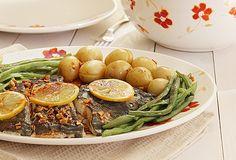 Este molho valoriza bastante pratos de peixe. Para o acompanhamento, batata nova e feijão-verde