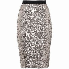 H&M silver sequin skirt
