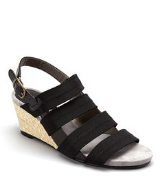 Black Allie Leather Sandal