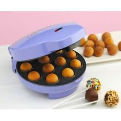 Cake pops are all the craze right now, this would simplify things a bit @Michelle Caldiero Steineckert a bit spendy but I think if I made cake pops all the time it would be worth it...