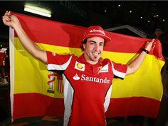 Fernando Alonso, the winner of the  2012 Formula One Malaysian Grand Prix.