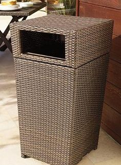 Compliment your outdoor wicker furniture while keeping your parties clean and providing your guests with a convenient place to discard their waste with the handsome Woven Waste Bin.