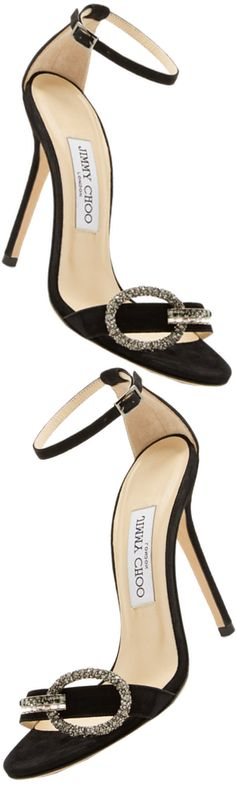 Jimmy Choo Tamsyn Suede Sandal shown in Black