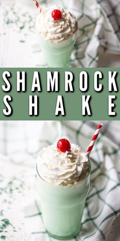 Shamrock Shake Recipe: So easy to make at home with just 4 ingredients! Even better than McDonald's, and you can enjoy it any time you like! #shamrockshake #mcdonald's #recipe #forkids #boozy #easy #desserts #DIY #copycat #homemade #dairyfree #baileys #spiked #cocktail #stpatricksday #bakingamoment Desserts Diy, Shamrock Shake, Baileys, 4 Ingredients, Copycat, St Patricks Day, Drink Recipes, Dairy Free, Irish