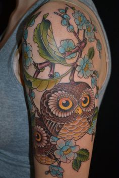 Owl tattoo by Gordon Combs // Seventh Son Tattoo, San Francisco, CA  YESTATTOO