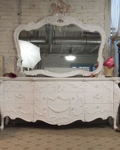 Painted Cottage Chic Shabby White French by paintedcottages, $995.00