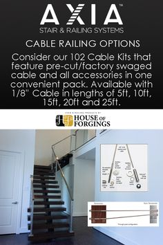 Considering cable railing for your next project? We have a range of options to choose from: Our durable 316 Grade Stainless Steel cable railing and fittings is Stair Builder, Stainless Steel Cable Railing, Iron Balusters, Staircase Remodel, Modern Stairs, Railing Design, Smooth Lines, Home Builders, House