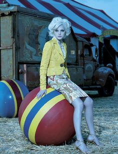 Editorial: The Chicest Show On Earth  Models: Jessica Stam and Gabriel Aubrey  Photographer: Laspata DeCaro