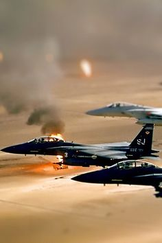 F-15 Strike Eagles on patrol in Dessert Storm