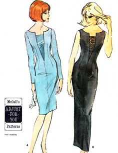 1960s Dress Pattern McCalls 7566 Day or Evening by paneenjerez, $25.00