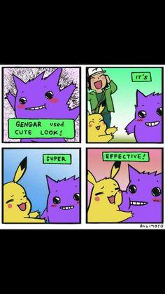 Gengar and pikachu