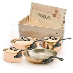 Mauviel - M'héritage M'250c Copper & Stainless Steel Cookware with Cast Iron Handles
