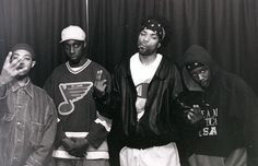 Source Magazine Awards - NYC - 1994 (Wu-Tang clan) U-God - Inspectah Deck - Method Man  &  ?