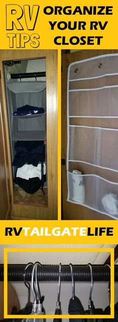 Tips and hacks to organize your RV closet to make the most of the small space.