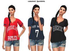 sweetsims4's sporty_letterprint_Shirt_Set