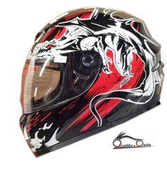 LEOPARD-LEO-819-Full-Face-Motorbike-Helmet-Motorcycle-Scooter-Crash-Free-Visor