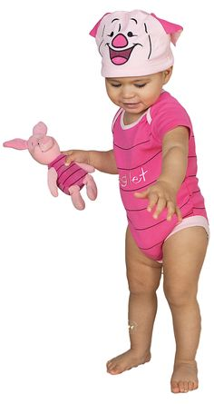 3f109928c Boys Girls Baby Piglet Romper Fancy Dress Costume Winnie the pooh cute pink  Book day outfit