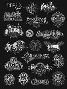 "Check out this @Behance project: ""Hand-drawn monograms and lettering collection 2016-2017"" https://www.behance.net/gallery/59119627/Hand-drawn-monograms-and-lettering-collection-2016-2017"