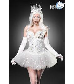 Das zauberhafte Snow Princess Kostüm von Mask Paradise besteht aus Corsage, Tutu, Handschuhe, Krone und Collier - AT80138. FashionMoon  #kostüme #kostüm #faschingskostüm #karnevalskostüm #costume #karneval #fasching #alaaf