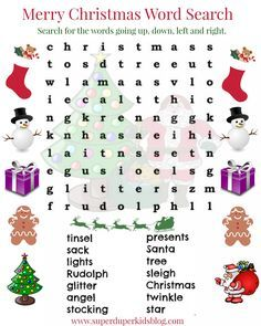Wordsearches For Kids Christmas See the category to find more printable coloring sheets. Also, you could use the search box to find what you want. printables Wordsearches For Kids Christmas