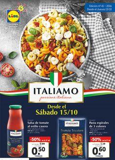 Folleto Lidl Italia: a partir del 13 de octubre de 2016 -  Llega uno de los folletos más esperado de Lidl, la semana de ofertas en productos de Italia gracias a la marca Italiamo, podremos encontrar en oferta salsa de tomate al estilo casero, pasta de colores, salsas de pesto, antipasti italiano incluso la cerveza típica italiana Birra Moretti. Al final ... #Folletosonline, #Lidl  #Crivit, #Italiamo Ver en la web : http://ofertassupermercados.es/folleto-lidl-italia-part