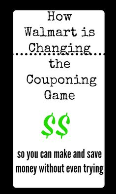 How walmart is changing the couponing game to help you save money without even trying!