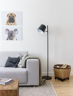 Baby rimpel hond en baby koala aan de muur in de woonkamer. Ook leuk voor in de slaapkamer of kinderkamer.
