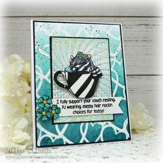 Handmade card by Julee Tilman featuring products from Sassy & Crafty. #handmadecards #stamper Heart Stencil, Concord And 9th, Birthday Week, Glitter Gel, Hero Arts, My Stamp, Petunias, I Fall In Love, I Card