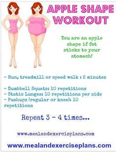Apple Shape Workout For Curvy Women