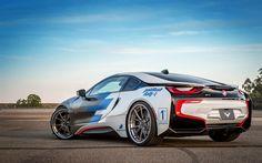 Descargar fondos de pantalla BMW i8, 2017, la Optimización de i8, deportes, coches eléctricos, coches alemanes, BMW