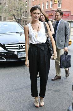 Street Style Black And White Enjoyment
