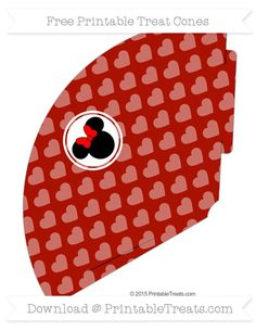 Free Turkey Red Heart Pattern  Minnie Mouse Treat Cone