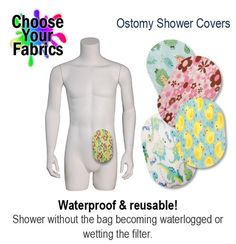 PouchWear Ostomy Shower Cover - made from PUL fabric.