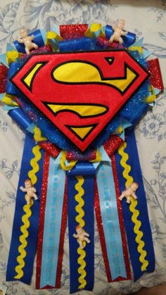 Superman baby shower theme... Made for my daughter's baby shower