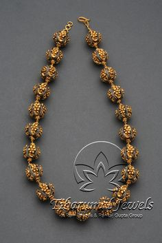 Nakshi studded with single-cut diamonds Mala | Tibarumal Jewels