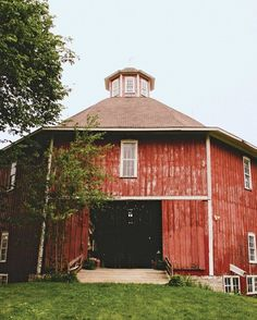 "The 19th-century barn that was their venue ""still had farm equipment, tools, and grains, but that was all the better to us,"" says Drew."