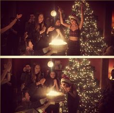 Taylor Swift with Selen Gomez & many others during her 25th birthday party on Dec. 12, 2014.