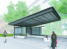 Cambridge Bus Stop | Paul Lukez Architecture