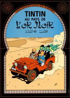 Tintin au Pays de l'Or Noir, c.1950 Art Print