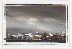 """LARS LERIN, akvarell, signerad Lars Lerin och daterad -91. """"Fra Svolvaer, Lofoten"""""""