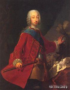 Portrait du Grand-Duc Peter Fedorovich avec une tige. Groot