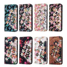 3D Flower Glitter Diamond Luxury Stand Flip Case PU Leather Cover For samsung S3 S4 S5 S6 S7 S6 edge Wallet Bag Phone Cases