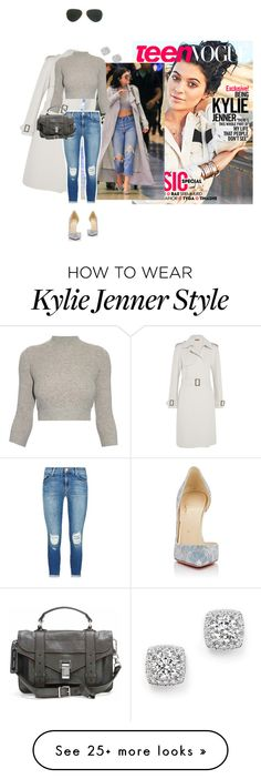 """""""Teen Vogue Kylie Jenner in denim and louboutin and diamonds."""" by misnik on Polyvore featuring Christian Louboutin, Bottega Veneta, J Brand, Alexander McQueen, Proenza Schouler, Ray-Ban, Bloomingdale's, McQueen, WhatToWear and HowToWear"""