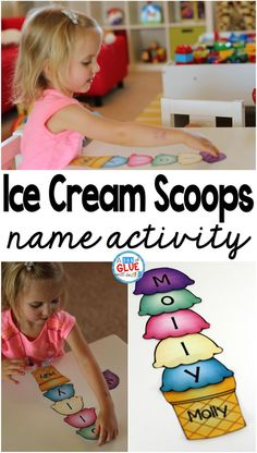 Ice Cream Scoops Name Activity is part of Name activities - The Name Game Activity Ice Cream Scoops Freebie is the perfect option for helping kids learn to spell their own name! Grab our free printable option here! Preschool Names, Preschool Literacy, Literacy Activities, Preschool Activities, Kindergarten Freebies, Summer Activities, Preschool Routine, Literacy Centres, Preschool Alphabet